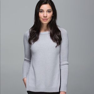 Lululemon grey Yin to You Sweater size small